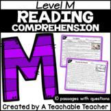 Level M Reading Comprehension Passages