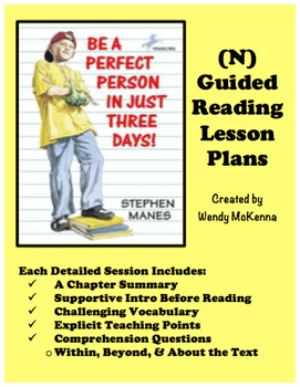 Level N Guided Reading Lesson Plans: Be A Perfect Person In Just Three Days