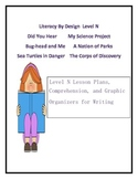 Level N Literacy By Design Lesson Plans and Comprehension Activities