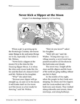 Level N: Never Kick a Slipper at the Moon (Reading Literary Text)