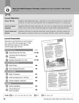 Level O: Davy Crockett Escapes a Tornado (Reading Literary Text)