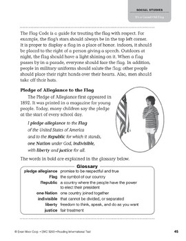 Level O: It's a Grand Old Flag (Reading Informational Text)