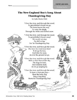 Level O: The New-England Boy's Song About Thanksgiving Day