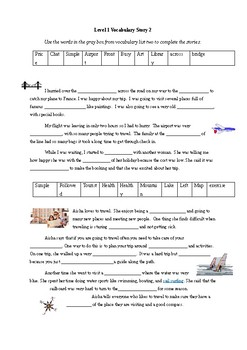 Level One CEFR Vocabulary in Context Stories