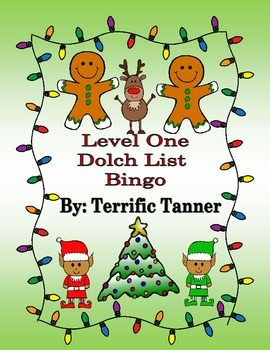 Level One Dolch Christmas Bingo