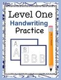 Level One Handwriting Practice