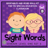 Level One Sight Word Materials for Special Educators: Set 3