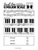 G Major Scale (2 Octaves) - Level One Technical Requirements