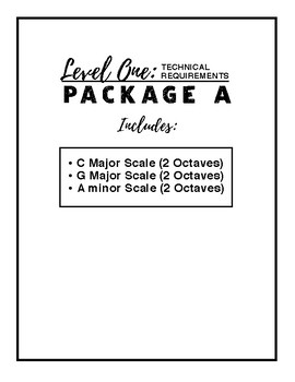 Level One Technical Requirements - Package A