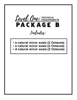 Level One Technical Requirements - Package B
