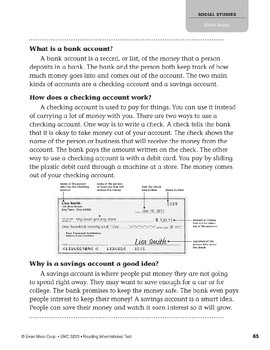 Level P: About Banks (Reading Informational Text)