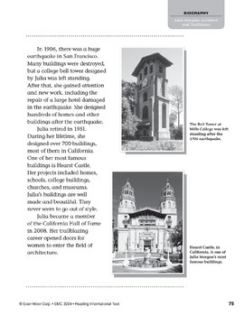 Level P: Julia Morgan: Architect and Trailblazer (Reading Informational Text)