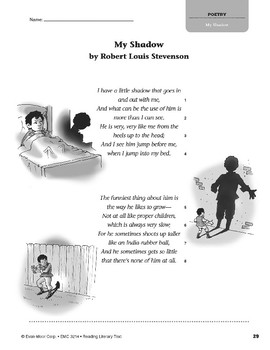 Level P: My Shadow, by Robert Louis Stevenson (Reading Literary Text)