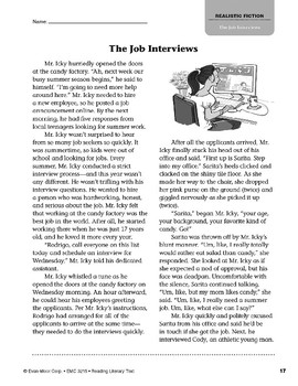 Level S: The Job Interviews (Reading Literary Text)