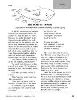 Level S: The Whale's Throat (Reading Literary Text)