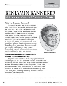 Level T: Benjamin Banneker: Astronomer, Writer, and Antislavery Activist