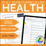 Level Three (8th Grade) Middle School Health Curriculum - No Prep Lesson Plans