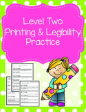 Level Two Printing and Legibility Practice Pack