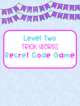 Level Two Trick Word Secret Code Pages