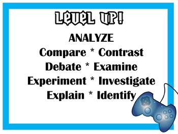 Level Up! with Bloom's Taxonomy