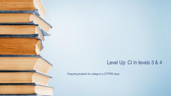 Level Up- CIIA 2016 presentation