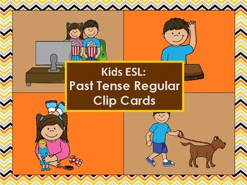 Level Up English - Past Tense Regular Cards