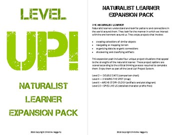 Level Up! Naturalist Learner Project Expansion Pack