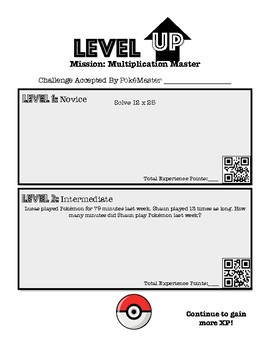 Level Up- Pokemon Multiplication Challenge