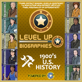 Level Up Reading -- Biographies -- 1900's America - Paired Text Bundle