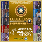 Level Up Reading -- Biographies -- African-American History - Paired Text Bundle