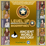 Level Up Reading -- Biographies -- Ancient History - Paired Text Bundle