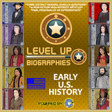 Level Up Reading -- Biographies -- Early America - Paired Text Bundle
