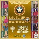 Level Up Reading -- Biographies -- Recent World History - Paired Text Bundle