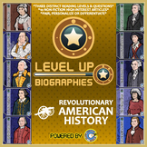 Level Up Reading -- Biographies -- Revolutionary America - Paired Text Bundle