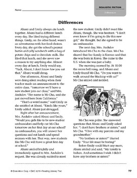 Level V: Differences (Reading Literary Text)