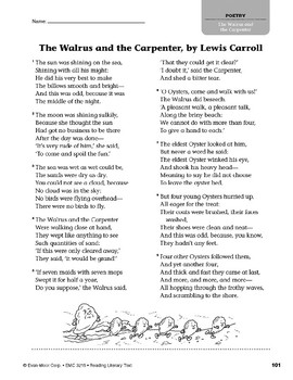 Level V: The Walrus and the Carpenter, by Lewis Carroll (Reading Literary Text)