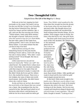 Level V: Two Thoughtful Gifts (Reading Literary Text)