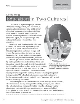 Level W: Comparing Education in Two Cultures (Reading Informational Text)
