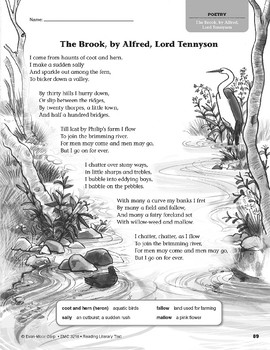 Level X: The Brook, by Alfred, Lord Tennyson (Reading Literary Text)