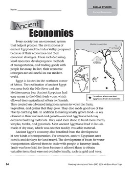 Level Y: Ancient Economies (Reading Informational Text)
