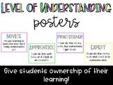 Level of Understanding Posters