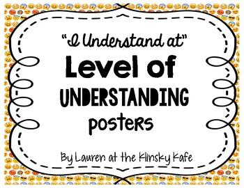 Level of Understanding Posters-Emoji Theme