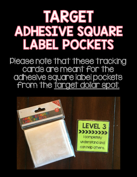 Level of Understanding Tracking Cards {Target Adhesive Square Label}