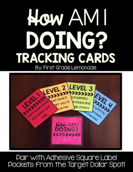 Level of Understanding Tracking Cards {Target Adhesive Squ
