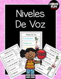 Level of Voice Poster in Spanish; Niveles De Voz