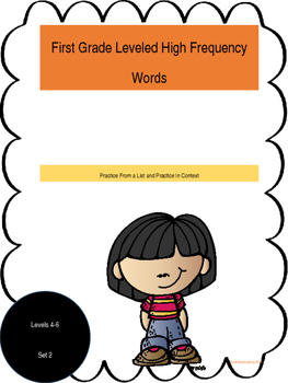 First Grade Leveled High Frequency Words 4-6