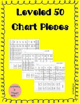 Leveled 50 Chart Missing Numbers Cut and Paste Worksheets