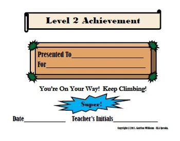 Leveled Achievement Reward Cards