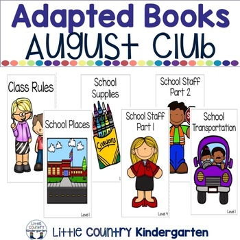 Leveled Adapted Books: August Book Club