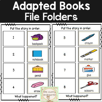 Adapted Books for Special Education: August Book Club Bundle
